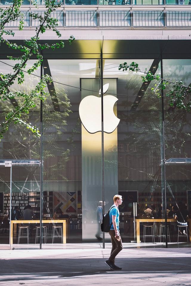 toppnotering Apples aktie
